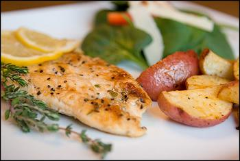 IBS Grilled Lemon Pepper Chicken with Thyme Gremolata Lunch