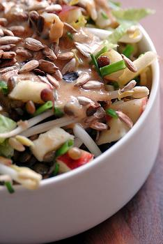IBS Lentil and Bean Sprout Salad Breakfast