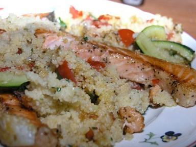 IBS Salmon and Couscous Lunch